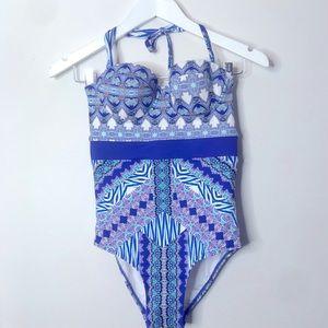 COZI by Jennifer Hawkins Printed OnePiece Swimsuit